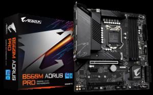 Gigabyte B560M AORUS PRO Motherboard (LGA 1200,4xDDR4 Slots,2xM.2 Slot)