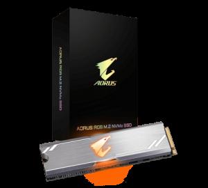 Gigabyte AORUS 512GB NVMe RGB SSD (Read Speed  3480 MB/s,M.2 2280)