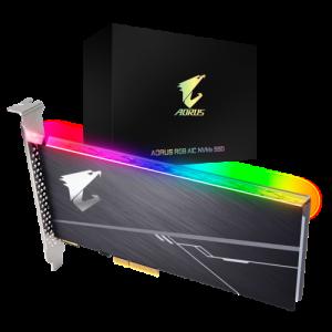 Gigabyte AORUS 512GB AIC NVMe RGB SSD (Read Speed 3480 MB/s,M.2 2280)