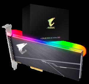Gigabyte AORUS 1TB AIC NVMe RGB SSD (Read Speed 3480 MB/s,M.2 2280)