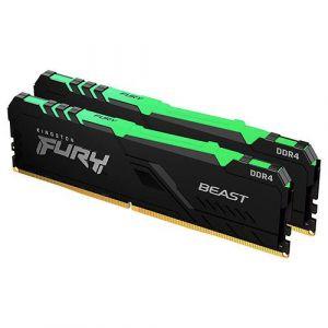 Kingston HyperX Fury BEAST DDR4 RAM 16GB (Desktop,8GBx2,3200Mhz,RGB)