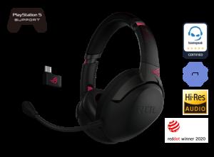 ASUS ROG Strix Go 2.4 Electro Punk Wireless Gaming Headset