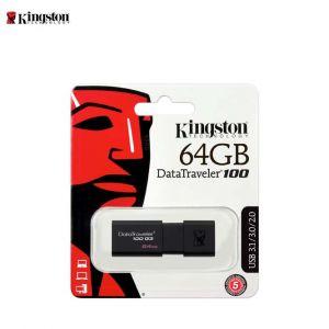 Kingston DT100G3 USB Flash Drive 64GB (USB 3.1 Gen 1 ,Read Speed 100MB/s)