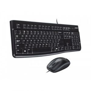 Logitech MK120 USB Wired Keyboard Combo