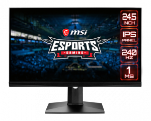 """Monitor Optix MAG251RX 24.5"""" Full HD IPS Monitor (240Hz,1ms,G-sync Compatible)"""