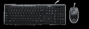 Logitech MK200 USB Wired Keyboard Combo